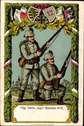 Regiment Litho 1 Kgl. Sächs. Jägerbataillon No 12