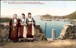 Postcard Ragusa Dubrovnik Kroatien, Herzegowinerinnen auf der Brenostraße