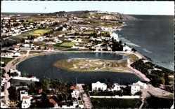 Postcard Salammbo Tunesien, L'Ancien Port Punique et la Colline de Sidi Bou Said