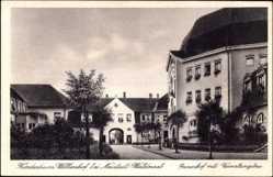 Postcard Störnstein, Kinderheim Wöllershof, Innenhof mit Verwaltungsbau
