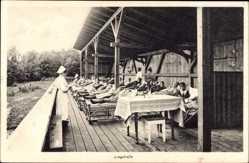 Postcard Störnstein, Blick auf die Liegehalle vom Kindererholungsheim Wöllershof