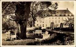 Postcard Freising in Oberbayern, Blick auf die Hochschule Weihenstephan, Park