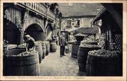 Ansichtskarte / Postkarte Meißen in Sachsen, Vincenz Richters Weinkelterei und Ausschank, Weintrauben