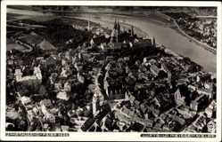 Ansichtskarte / Postkarte Dresden in Sachsen, Fliegeraufnahme von der Stadt, Hahn 4877