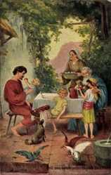 Künstler Ak Bender, Paul, Das Vaterunser, Gib uns heute unser täglich Brot