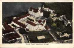 Postcard Dischingen Württemberg, Blick auf das Schloss Taxis, Fliegeraufnahme