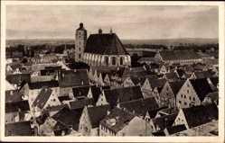 Postcard Ingolstadt an der Donau Oberbayern, Totale mit Pfarrkirche zur Sch. U.L. Frau