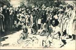 Postcard Sétif Algerien, Le Charmeur de Serpents, Schlangenbeschwörer
