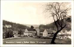 Postcard Wiedenest Burgneustadt, Blick auf Bibelschule f. Innere u. Äußere Mission