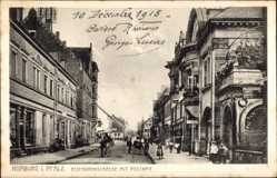 Postcard Homburg im Saarpfalz Kreis, Eisenbahnstraße mit Postamt