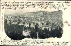 Postcard Stuttgart in Baden Württemberg, Blick auf die Stadt mit Uhlandshöhe