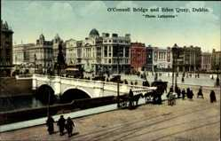 Postcard Dublin Irland, O'Connell Bridge and Eden Quay, Brücke