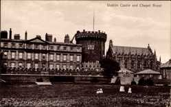 Postcard Dublin Irland, Castle and Chapel Royal, Schloss, Kapelle