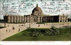Postcard Dublin Irland, Irish International Exhibition 1907, Central Building