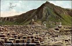 Postcard Irland, Horizontal Formations Giant's Causeway, Steinformationen