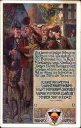 Studentika Künstler Ak Baumbach, R., Gaudemus, Studenten, Deutscher Schulverein