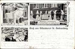 Ak St. Andreasberg Braunlage im Harz, Winterfest, Schneebaute, Totalansicht
