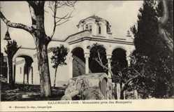 Postcard Thessaloniki Griechenland, Monastere pres des Remparts, Säulen, Arkaden