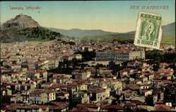 Postcard Athen Griechenland, Stadtpanorama, Gebäude, Berg, Fenster
