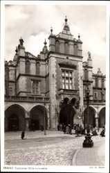 Postcard Kraków Krakau Polen, Blick auf die Tuchhallen, Mitteldurchgang, Sukiennice