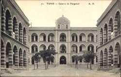 Ak Tunis Tunesien, Caserne de Forgemol, Blick auf die Kaserne, Eingang