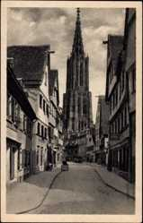 Postcard Ulm an der Donau Baden Württemberg, Das Münster von der Walfischgasse aus