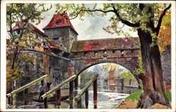 Künstler Ak Kley, Nürnberg in Mittelfranken Bayern, Kasematten, Pegnitz