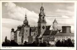 Postcard Kraków Krakau Polen, Ansicht der Burg, Zamek, Wawel