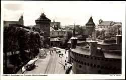 Postcard Kraków Krakau Polen, Rundbastei und Floriantor, Alte Stadtmauern