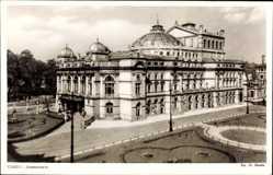 Postcard Kraków Krakau Polen, Staatstheater aus der Straßensicht