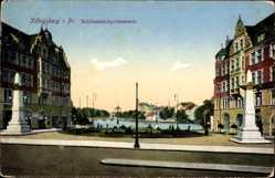 Ak Kaliningrad Königsberg Ostpreußen, Schlossteichpromenade
