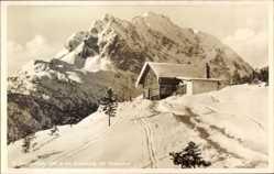Postcard Kranzberg, Blick auf die Sankt Anton Hütte am Anwurf, J. Ostler, Berg, Schnee
