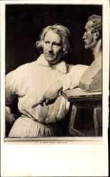 Künstler Ak Vernet, Horace, Dänischer Bildhauer Bertel Thorvaldsen