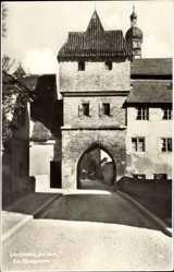 Postcard Landsberg am Lech in Oberbayern, Partie am Bäckerturm, Kirchturm