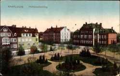 Postcard Saarlouis im Saarland, Parkanlage am Hohenzollernring