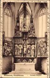 Postcard Blaubeuren Baden Württemberg, Klosterkirche, Hochaltar Skulptur
