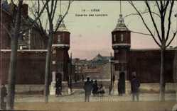 Ak Liège Lüttich Wallonien, Caserne des Lanciers, Kaserne, Einfahrt