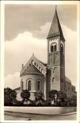Postcard Zuffenhausen Stuttgart in Baden Württemberg, St. Antoniuskirche, Laterne