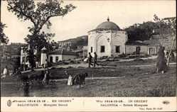 Postcard Saloniki Griechenland, Mosquée Babak, Moschee
