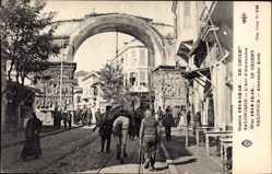 Postcard Saloniki Griechenland, Guerre 1914, L'Arc d'Alexandre