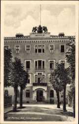 Ak St. Pölten Niederösterreich, Blick auf die Schulkaserne, Fassade