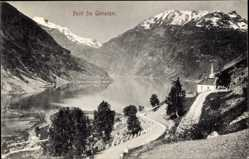 Postcard Geiranger Norwegen, Totalansicht, Bergstraßen, Fjord