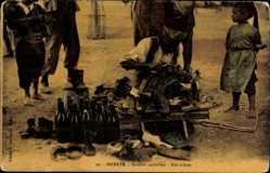 Postcard Tunis Tunesien, Savetier ambulant, Bric à brac, Schuhmacher