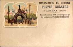 Lithographie Exposition Universelle de 1900, Manufacture de Chicoree a Cambrai