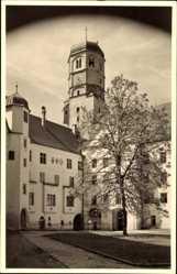 Foto Ak Dillingen an der Donau in Nordschwaben, Innenhof mit Turm