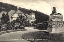 Postcard Insel Madeira Portugal, Restaurant Esplanade, Gedenkstein
