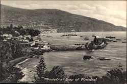 Postcard Insel Madeira Portugal, Bay of Funchal, Blick auf die Küste