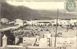 Postcard Tetuan Tétouan Marokko, vue generale du Soko pres de la Legation Espagnole