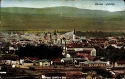Postcard Košice Kassa Kaschau Slowakei, Totalansicht, Bahnhof