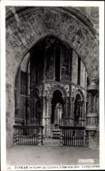 Postcard Tomar Portugal, Conv. de Cristo, Charola dos Templarios